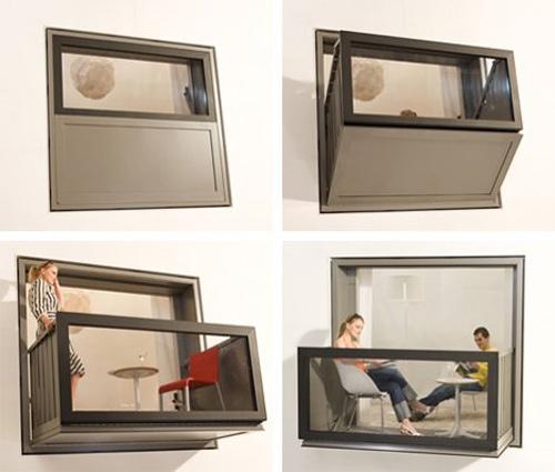 invenções curiosas janela sacada apartamentos